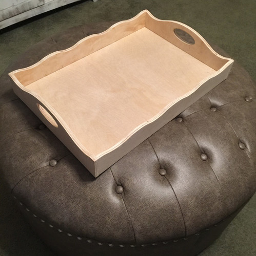 """LARGE RECTANGLE Tray, Ottoman Tray, Coffee Table Tray, Dining Table Tray (1/2"""" BIRCH) - Unfinished  DIY Craft"""