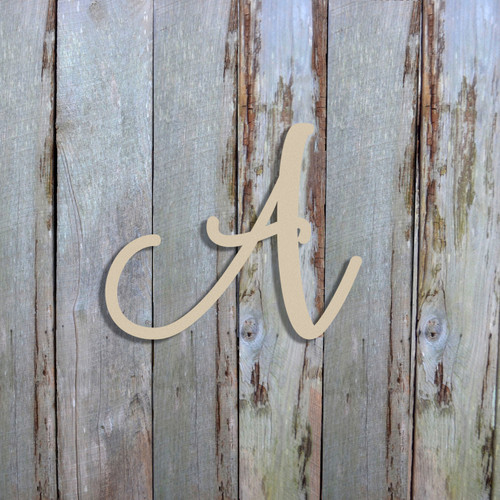 Unfinished Wooden Alphabet Letter Wall Decor (Fairybells)