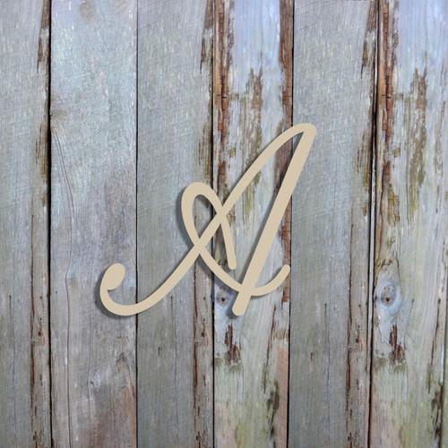 Unfinished Wooden Alphabet Letter Wall Decor (Fameliya)