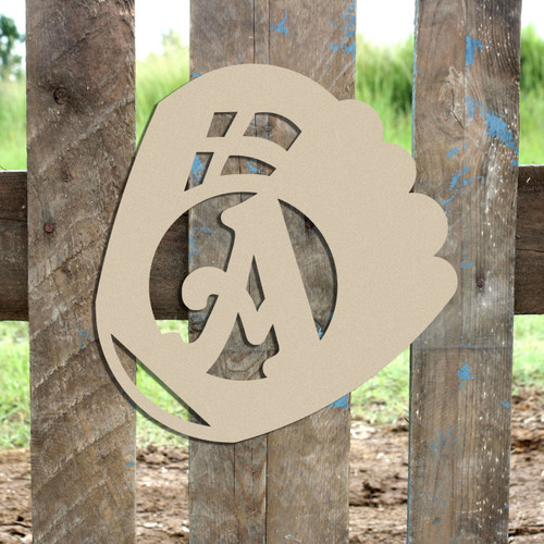 Baseball GloveMonogram Beltorian Letter Wooden - Unfinished  DIY Craft