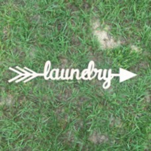 Arrow with word inside (laundry) DIY Unfinished Craft Shape