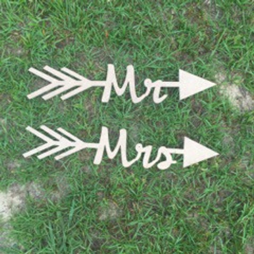 Arrow with word inside (Mrs) DIY Unfinished Craft Shape