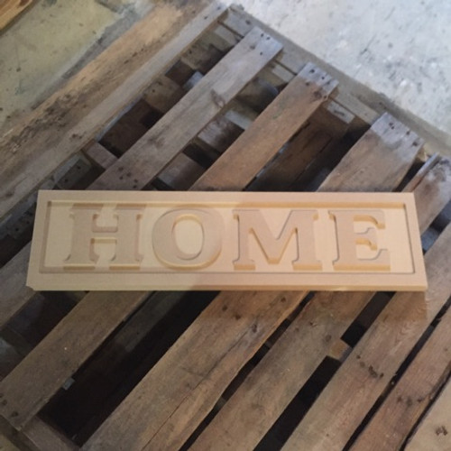 Engraved Wooden Sign 8'' x 31'' Home