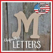 Unfinished Craft Letters, Wooden Letters, Wood letter,