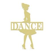 Dance Frame Family Name, Unfinished Framed Monogram