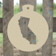Christmas Ornament California Unfinished Cutout, Wooden Shape, Paintable  DIY Craft