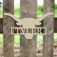 Longhorn Frame Family Name, Unfinished Framed Monogram