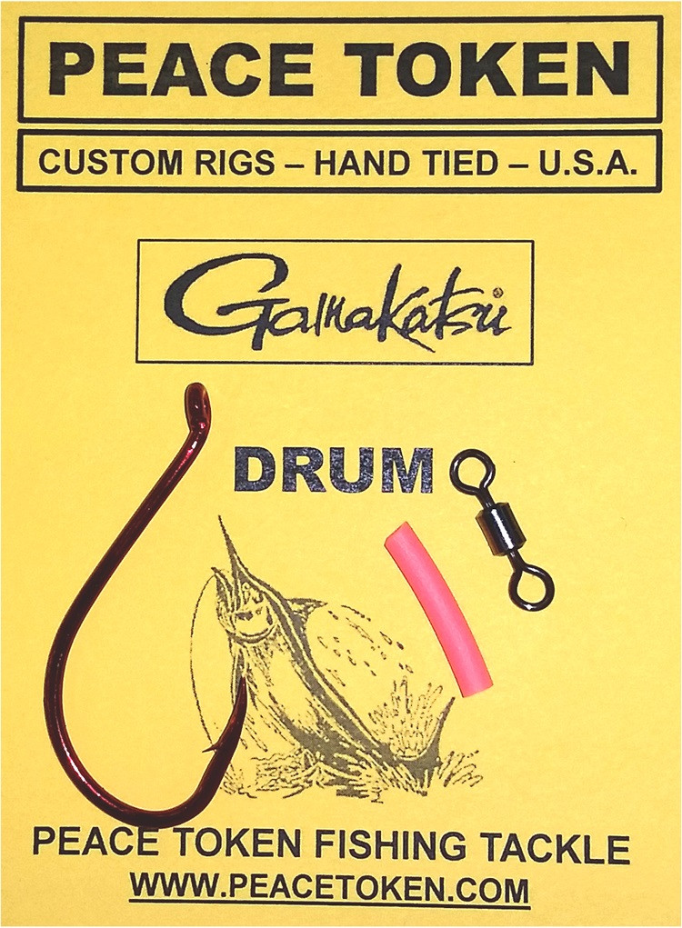Drum rig octopus hook peace token fishing tackle for Drum fishing rigs