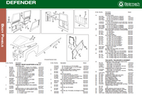 Land Rover Defender Body & Exterior Parts Exploded View Diagram