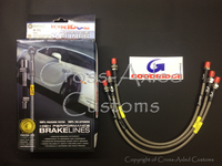 "GoodRidge Stainless Steel Braided Brake Hose / Line Set +2""/50mm Extended Length, Land Rover Series II/IIA 1960 to 1971. #BA 157L"