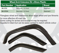 "Land Rover Discovery 1 Fender Flares / Wheel Arches. (Five Door, +2""/50mm Extended Width) Bearmach #BA 3721A"