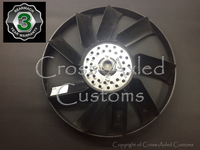 Land Rover Discovery II '99-'02 4.0 Radiator Cooling Fan Blade & Viscous Clutch Assembly. Bearmach/OEM #ERR4959