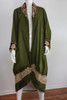 1900s Olive Green Jacket W/ Silk Lining & Velvet/Lace Detail