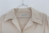 "1970s ""Halston"" Beige Trench Length Button Up Coat"