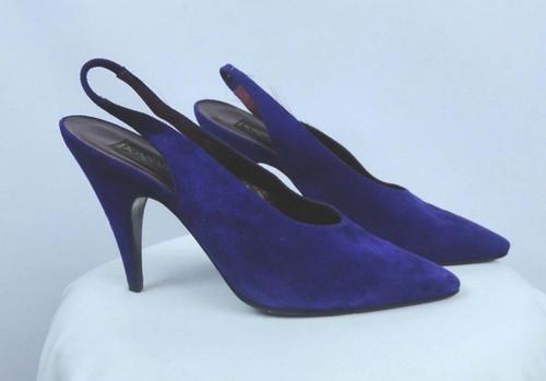 Vintage 1980s Donna Karan Purple Heels - Size 7.5