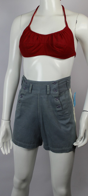Vintage 1940s High-waisted Button Front Shorts