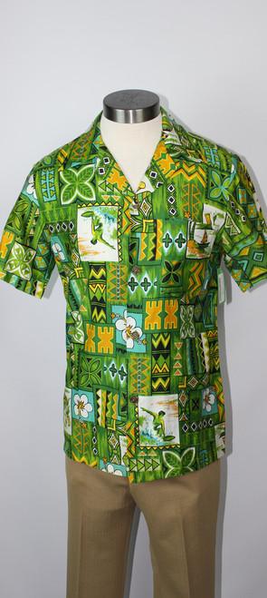 """Vintage Late 1960s """"Royal Hawaiian"""" Men's Shirt"""