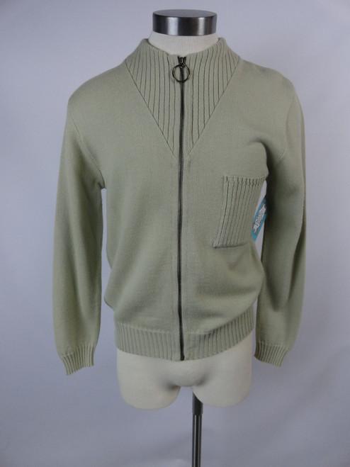 "Men's Vintage 60's ""dralon"" Zip-up Sweater"