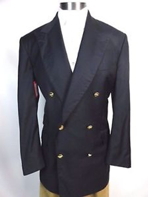 """Vintage 80's """"Turnbull and Asser at Bergdorf Goodman"""" Double Breasted Jacket"""