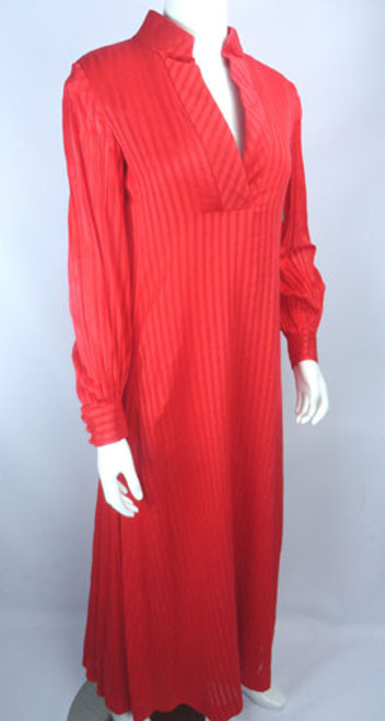 Vintage 1970s Geoffrey Beene Vibrant Red-Orange Tunic