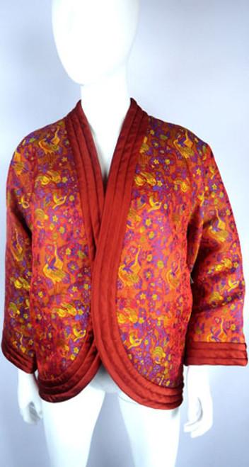 Vintage Yves Saint Laurent Rive Gauche Silk Chinese Brocade Jacket