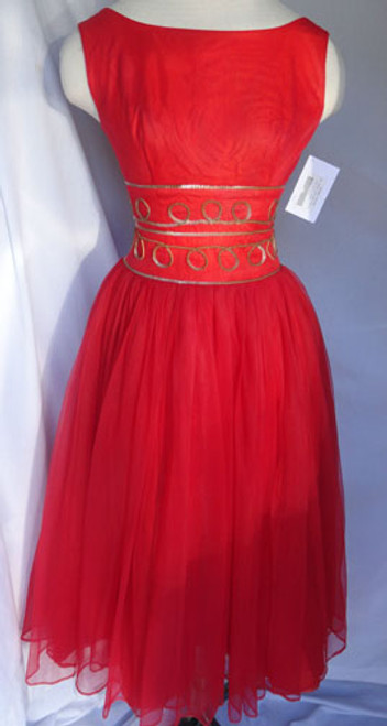 Herman's Key West Red 1950s Swing Dress