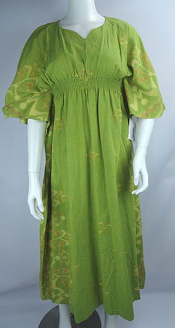 Vintage 1970s Indonesian Batik Print Maxi Dress