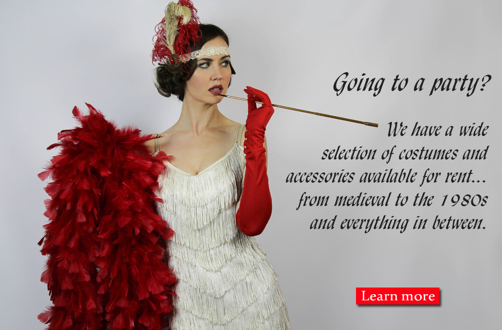 Rent costumes at Orlando Vintage Clothing and Costumes