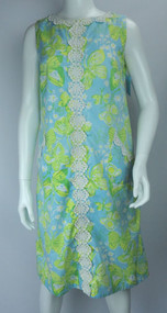 Vintage 1970s Lilly Pulitzer Short Butterfly Shift Dress