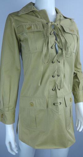 Iconic Vintage 1968 Yves Saint Laurent Safari Jacket Tunic