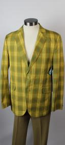 "Vintage 1960s ""The Andrews"" Plaid Men's Blazer"