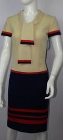 Vintage 1960s Mr. Blackwell Tie Collar Dress