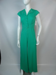 "Vintage 70's Kelly Green ""Jerell"" Jumpsuit"
