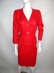 "Vintage 80's ""YSL"" Linen Power Dress"