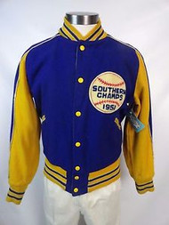 "Vintage ""1951 Southern Champs"" Wool Reversible Letterman Jacket"