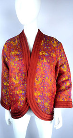 Vintage Yves Saint Laurent Rive Gauche Silk Chinese Brocade Jacket