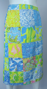 Vintage 1970s Lilly Pulitzer Rare Patchwork Skirt