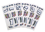 Parma Stock Car Decals & Numbers - PAR-757T