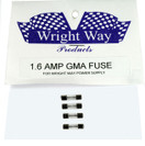 Wright Way Replacement Fuses 1.6 Amp - WW-FUSE