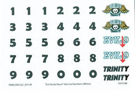 Trinity Evil Bucks Numbers - Black on White - TRI-7100