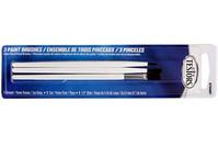 Testors Economy 3 Pack Pain  Brush Set - TS-8706MT