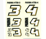 Parma 1/24 Number Pack - Gold - PAR-756B