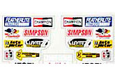 Parma RC Off Road Stickers that could be used on 1/24 Cars - PAR-10601