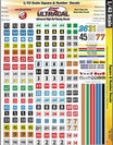 Ultracal 1/43 Racing Numbers & Square Decals - MG-3201