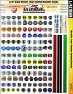 Ultracal 1/43 Metallic Pearl Round Racing Numbers - MG-3206