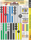 Ultracal 1/24 Racing Stripes & Round Numbers - MG-3403