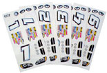 Parma Stock Car Decals & Numbers - PAR-757D