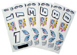 Parma Stock Car Decals & Numbers - PAR-757F