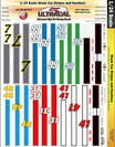 Ultracal 1/24 Stock Car Racing Stripes & Numbers - MG-3441