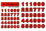 JK Race Numbers - Red - JK-2003R